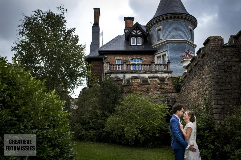 bruidspaar kasteel belgie