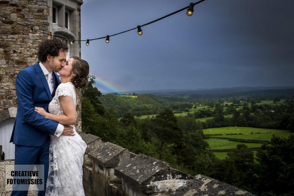 regenboog bruidspaar
